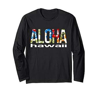 497b141d Unisex Aloha Hawaiian T-shirt Flowers Hawaii Funny Vacation Surf Small Black
