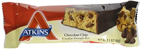 Atkins Advantage Bar Chocolate Chip Cookie Dough -- 5 (Atkins Low Carb Cookies)