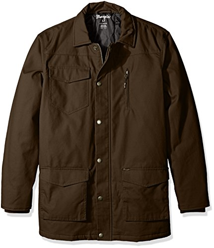 Wrangler Coat (Wrangler Men's Big and Tall Barn Coat, Dark Brown, 2X/Tall)