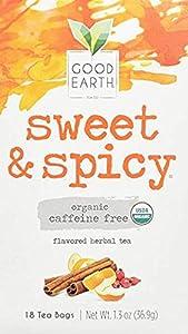 Organic Sweet & Spicy Herbal Caffeine Free Good Earth Teas 18 Tea Bag by Good Earth