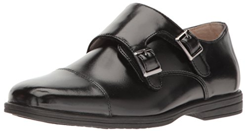 Carolina Shoe Oxfords (Florsheim Kids Boys' Reveal Double Monk Jr. Oxford Black 10 M US Toddler)