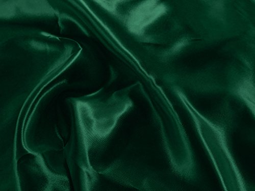 Zen Creative Designs Satin Charmeuse Fabric 60 Inch Wide / Shiny & Smooth Fabric / Luxury Satin / Craft & Sewing Material (1 Yard, Hunter Green)