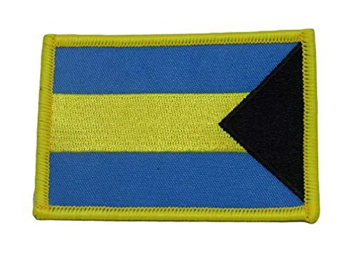 Mikash Bahamas Country Flag Iron On Patch | Model FLG - 2928