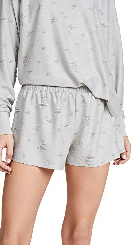 Honeydew Intimates Women's Starry Eyed Knit Shorts, Flint, Grey, Print, Medium