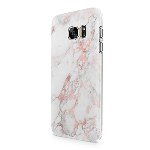 Galaxy S7 Case uCOLOR Rose Pink Marble Dual-Layer Soft Flexible TPU Protective Cover for Samsung Galaxy S7