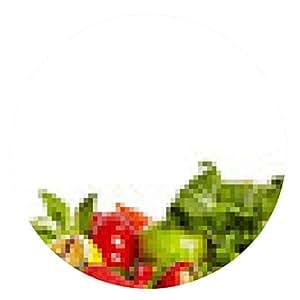 alfombrilla de ratón fronteras de frutas y verduras - ronda - 20cm