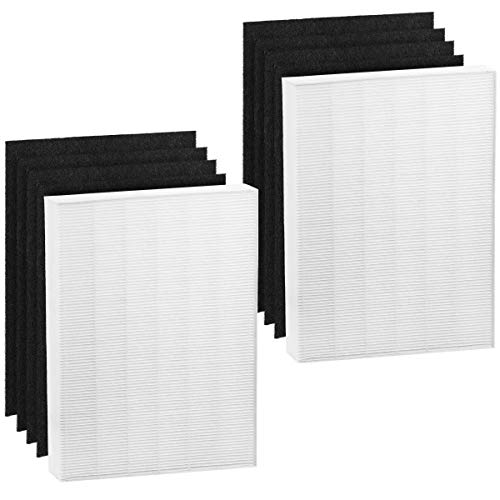 Altec Filters 2 True HEPA Premium Quality Replacement Filters Plus 8 Activated Carbon Prefilters Compatible for Winix PlasmaWave 115115 Air Purifier Size 21 Filter A 5300 6300 5300-2 6300-2 P300 C535