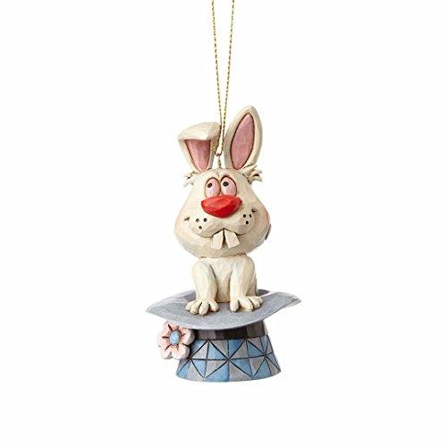 "Enesco Jim Shore ""Frosty the Snowman"" Magic Hat Stone Resin Hanging Ornament, 4.125"" (Magic Hocus Pocus)"