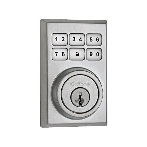 Kwikset 910 Z-Wave Contemporary SmartCode Electronic Deadbolt featuring SmartKey in Satin Chrome by Kwikset