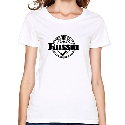 Price comparison product image ORHOWO Women's Made In Russia R1 T-shirt - L White