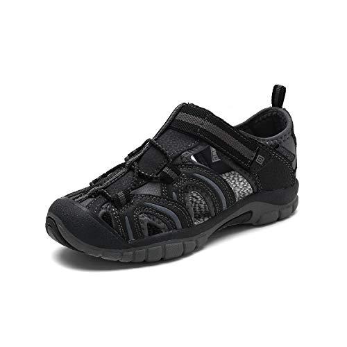 DREAM PAIRS Boys Girls 171112-K Black Grey Outdoor Summer Sandals Size 13 M US Little Kid