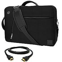 VanGoddy Black Slate 3-in-1 Hybrid Laptop Bag for MSI GS40 Phantom / GS30 Shadow , Gaming Laptops + 12FT HDMI Cable
