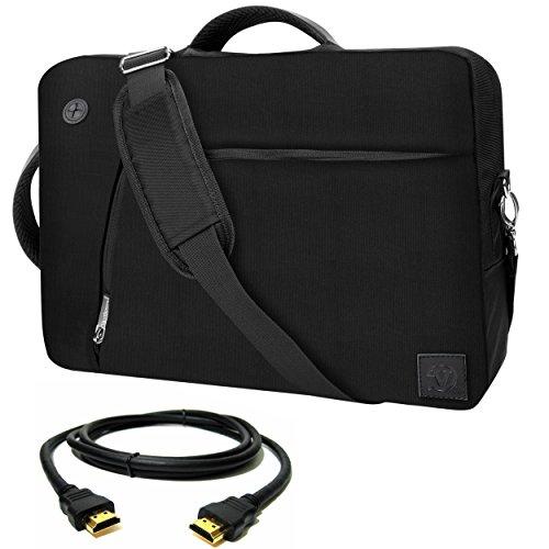 VanGoddy Black Slate 3-in-1 Hybrid Laptop Bag for MSI CX / W