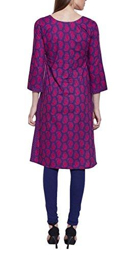 Veste à manches longues en V violet Robe en coton imprimé Ikat - Unique Women's Fashions