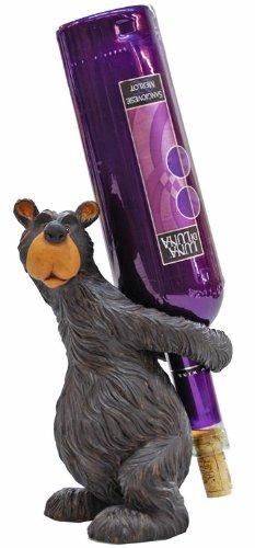 Willie Black Bear Wine Bottle Holder, 9-inch