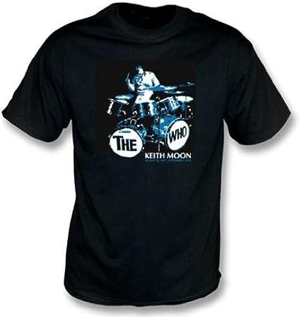 TshirtGrill La Camiseta de Keith Moon (Que), colorea Negro