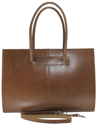 Mud with Leather 100 Bag Women's Italy 40x30x12cm CTM Genuine Shoulder Made Handles in C7F1q
