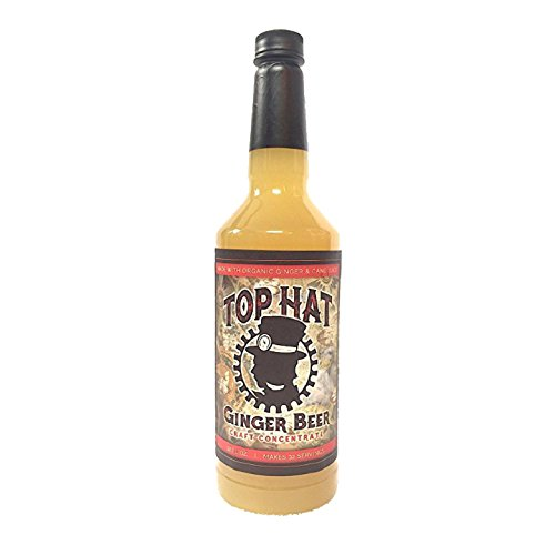 Top Hat Craft Ginger Beer Syrup - 32oz btl (MAKES 32 GINGER BEERS) - Organic Ginger Beer