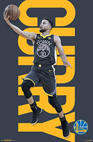 Trends International Golden State Warriors-Stephen Curry Mount Bundle Wall Poster, 22.375