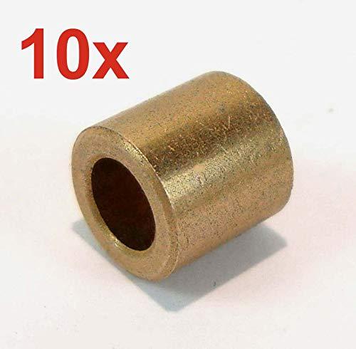 Sinterbronze Buchse mit Bund Durchmesser 10//16//22 x 10 Gleitlager für 10mm Welle