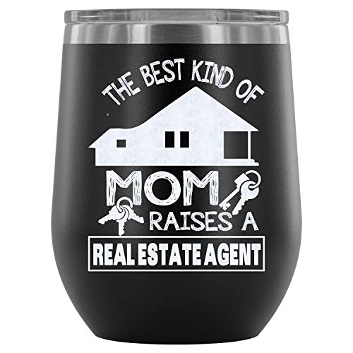 Stainless Steel Tumbler Cup with Lids for Wine, Railroader Mom  Wine Tumbler, I Love Mommy  Vacuum Insulated Wine Tumbler (Wine Tumbler 12Oz - Black)]()