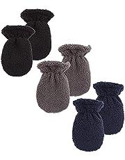 Peecabe Baby Boys Winter Soft Mittens Fleece Infant Toddler Girls Gloves Set