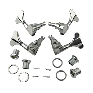 musiclily 2 2 sealed bass guitar tuning pegs. Black Bedroom Furniture Sets. Home Design Ideas