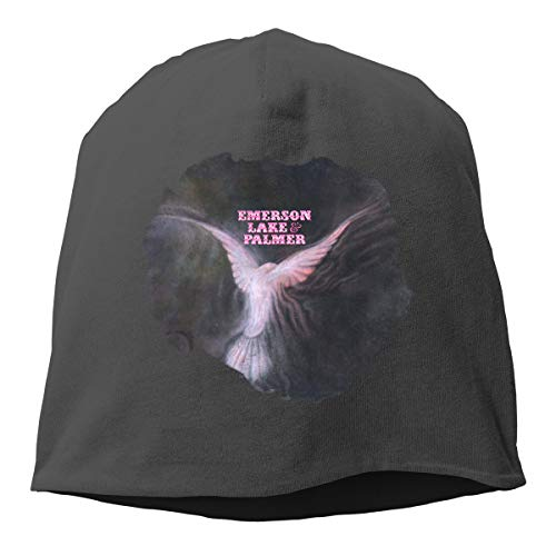 - Emerson Lake and Palmer Cotton Polyester Beanie Hat Unisex Soft Ski Hat Hedging Cap Black