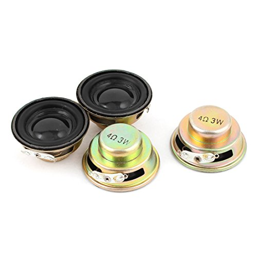 uxcell 4 Pcs Multimedia 3W 4 O