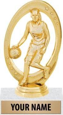 5.25インチメスバスケットボールTrophies – バスケットボールチャンピオントロフィー