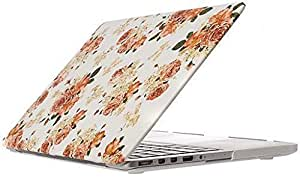 Floral Print Rubberized Matte Case Cover Shell For Macbook Apple Macbook Retina 13.3