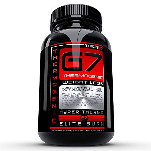 G7 from Musclejet, Thermogenic Metabolizer with Fat Burn Power and Appetite Suppresion, Weight Loss that works fast, 60ct bottle