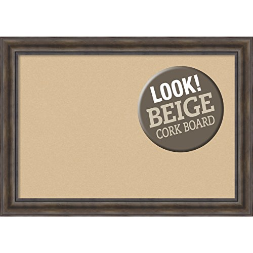 Amanti Art Framed Beige Cork Board Rustic Pine: Outer Size 42 x 30'', Extra Large by Amanti Art (Image #6)