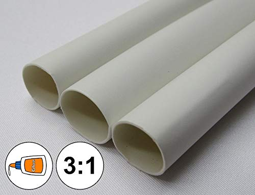 Insulation Protecting (1 Foot) 3/4'' White Heat Shrink Tube 3:1 Dual Wall Adhesive Glue Marine/to 0.75'' Electrical Assortment 0.75' Heat Shrink Tubing