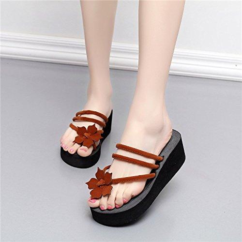 Zapatillas Y Verano amp;QIUMEI Zapato Cool Café Zapatillas Slacker Mujer OME Hw6qBXF6