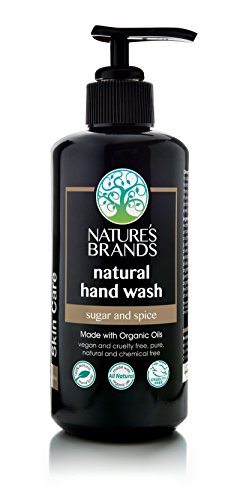Herbal Choice Mari Natural Hand Wash, Sugar & Spice; 6.8floz UV Glass, Made with Organic