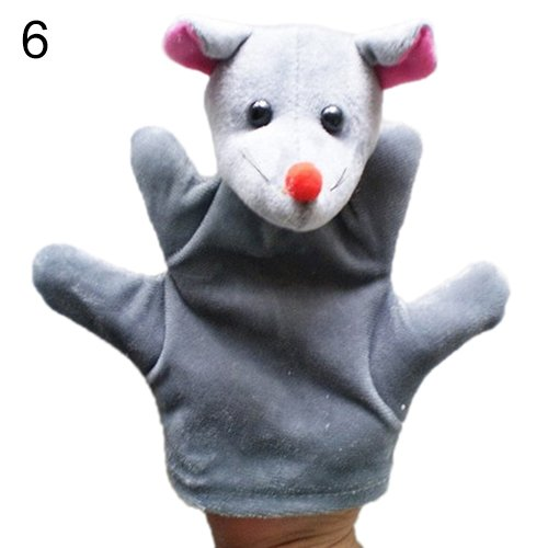 Delicate Baby Child Zoo Farm Animal Hand Glove Puppet Finger Sack Plush Toy^mouse.