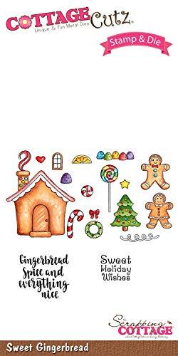CottageCutz Sweet Gingerbread Stamp & Die - Sweet Gingerbread