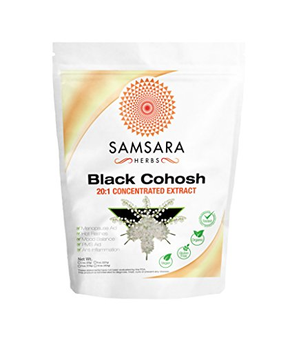 Black Cohosh Extract Powder (2oz/57g) - 20:1 Concentrated Extract - HIGH POTENCY & VALUE | Menopause | Female Health | Mood Balance