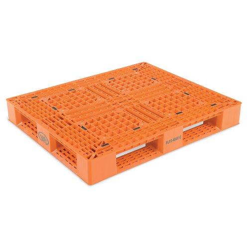 Vestil-Double-Deck-Plastic-Pallet-6600-Lb-Floor-Capacity-Orange-Orange