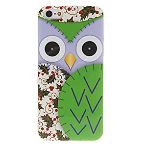 Cartoon Style Flowery Owl Pattern Hard Case for iPhone 5/5S (Assorted Colors) --- COLOR:Blue