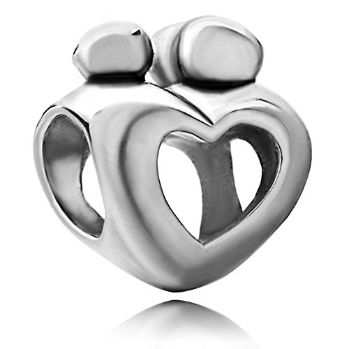 Mother Child Charms Open Heart Love Lover Sale Cheap Jewelry Bead Fit Pandora Charm Bracelets