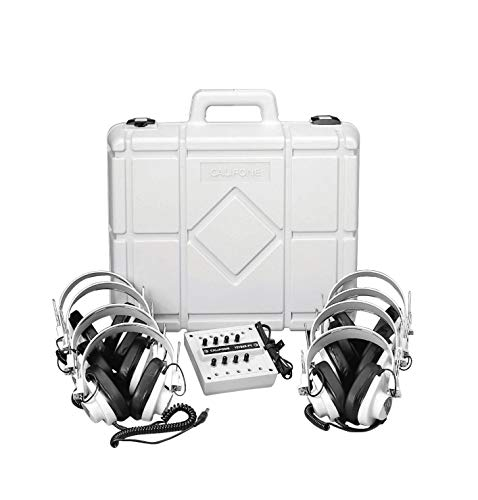 - Califone 1218AVP-01 Listening Center, 8 Headphones and Carrying Case