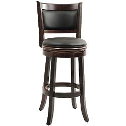Boraam 48829 Augusta Bar Height Swivel Stool, 29-Inch, Cappuccino