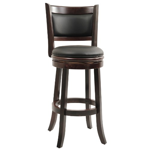Boraam 48829 Augusta Bar Height Swivel Stool, 29-Inch, Cappuccino (Dimensions Bar Chair)