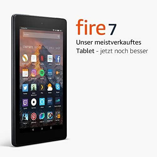 Fire 7-Tablet, 8 GB, Schwarz, mit Spezialangeboten (vorherige Generation – 7.)