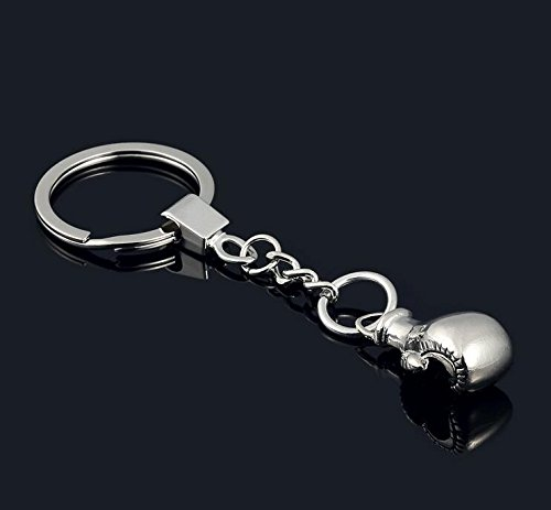 HaoLi Creative car Boxing Gloves Metal Keychain/Key Ring