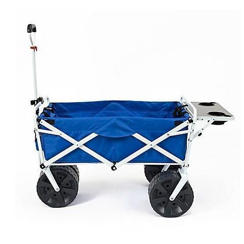 macwagon Mac Sports Collapsible Outdoor Utility Wagon with Folding Table in Blue/White