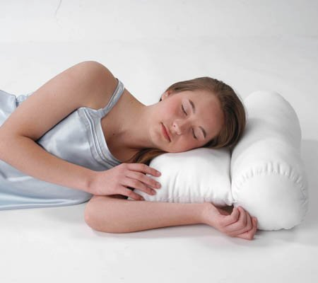 Neck Pillow - Neck Roll Pillow Orthopedic designed to support the neck properly and comfortably while sleeping. Made of 100 % polyester fibers.