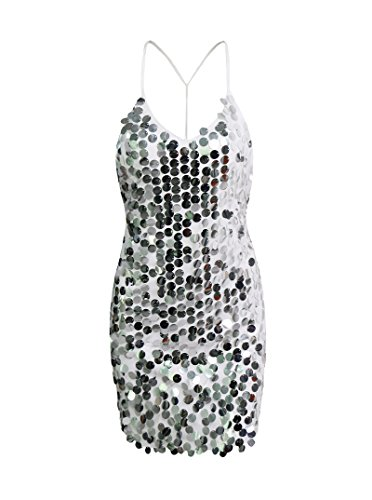 Womens Sequin Mermaid Dress Spaghetti product image